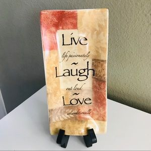 Cypress Homes Dish - Tray - LIVE LAUGH LOVE